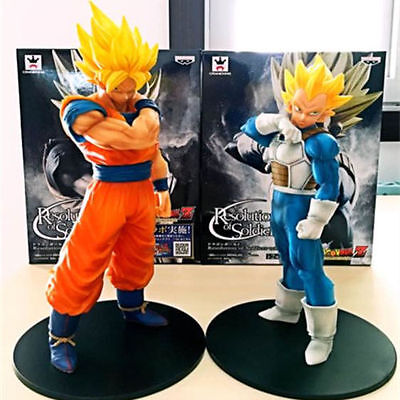 2pcs Dragon Ball Z DBZ Son Gokou & Vegeta PVC Figure Set Collection Batter Ver.