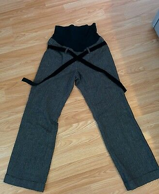H&M mama grey maternity trousers size 10