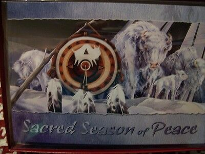 Leanin Tree  Christmas Card Set Sacred White Buffalo  10 Pk New !