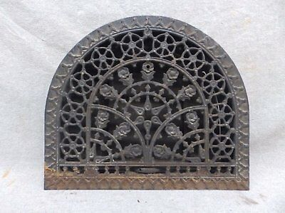 Antique Cast Iron Arch Top Dome Heat Grate Wall Register 11x13 184-17R