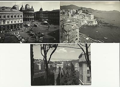 Italian Picture Post Cards - Town Of Genova, N.3  Pieces