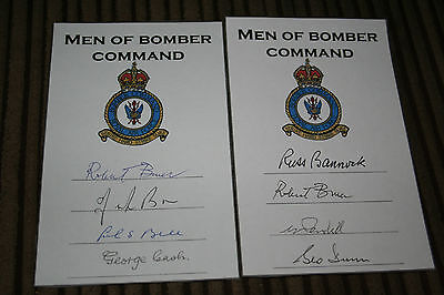 RAF Bomber Command Pair of Mosquito Signed Book Plates DFC DFM