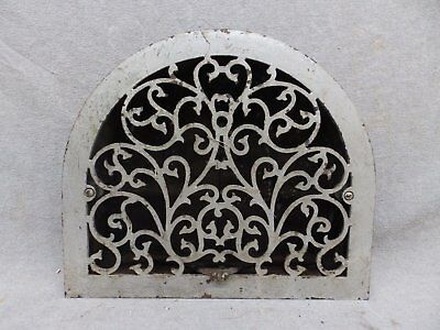 Antique Cast Iron Arch Top Dome Heat Grate Wall Register 11x13 186-17R