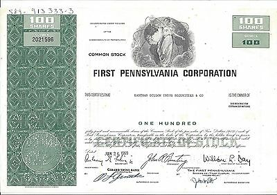 First Pennsylvania Corporation......1969 Stock Certificate