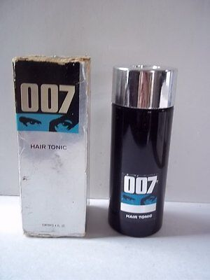 Vintage James Bond 007 Hair Tonic 4OZ Colgate Palmolive Original Box