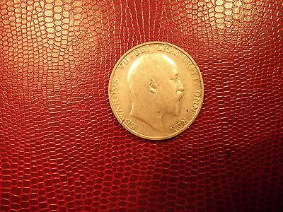 1906 Shilling King Edward VII A Good Honest Circulated Coin