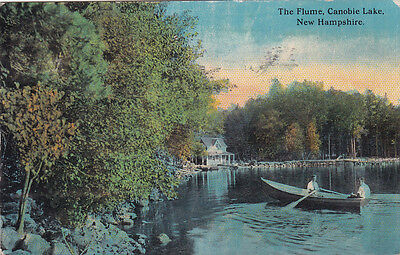 The Flume CANOBIE LAKE New Hampshire USA 1912 F.W. Woolworth Co. Postcard
