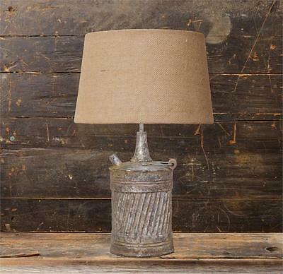 New Primitive Country Antique Style VINTAGE GAS CAN LAMP Electric Table Light
