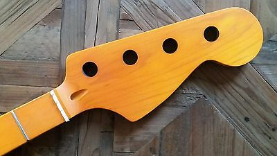 New Manche JAZZ BASS -vintage yellow -  maple - pour Fender, Squier...