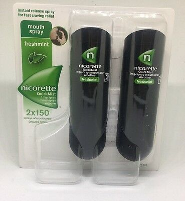 Nicorette Quickmist Duo Nicotine Mouthspray 1 mg 2x 150 Spray RRP £27 FREE POST