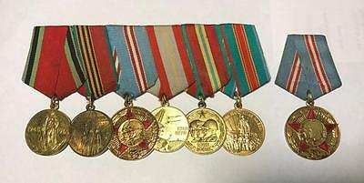 Lot Of 7 Original Ussr Soviet Russian Medal Ссср