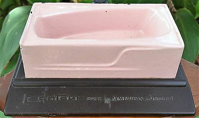 Contour Bath by American Standard~Cast Iron Pink Enamel Salesman's Sample~1950s