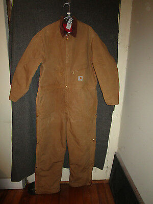 Carhartt Insulated Coveralls Men's Size 52 Regular