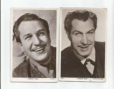 Two Vincent Price  Picturegoer B/w Real Photographs