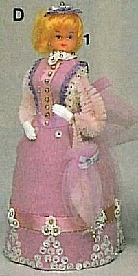 """MY FAIR LADY Kit Ms LAVENDER BUSTLE Doll Body Gown 6"""" Foam  No Beaded  Beads"""