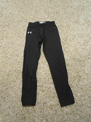 Boys Under Armour Pants Size Medium Youth Black Legging Toddler Fits 4T Base