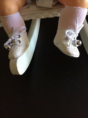 White Hi-top Shoes For Tiny Thumbelina
