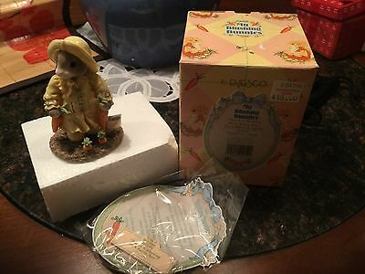 NIB Enesco My Blushing Bunnies You're a Blessing on a Rainy Day #204706