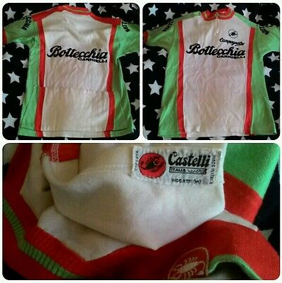 Bottecchia Malvor Campagnolo cycling shirt wool maglia ciclismo vintage maillot