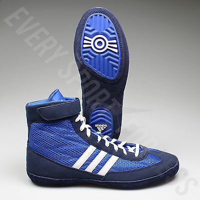Adidas Combat Speed 4 Wrestling Shoes S77934 - Royal/White/Navy (NEW) Lists @$82