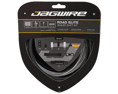 Jagwire Road Elite Sealed Shift Bicycle Cycling Inner Outer Gear Cable Kit Black