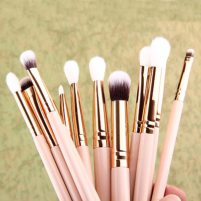Pro 12pcs/Set Cosmetic Makeup Brushes Powder Foundation Eyeshadow Lip Brush Tool