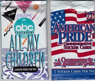Sealed Packs American Pride Commemorative Sticker Cards And All My Childern