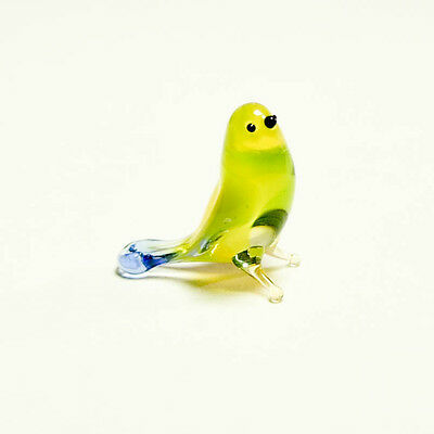 VIDEO Tiny glass figurine Parus Finch Murano Dollhouse Tomtit miniature Titmouse
