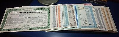 LOT OF OVER 150 STOCK BOND & WARRANTS CERTIFICATES 1960's 1970's & EARLY 1980's