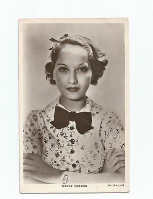 Merle Oberon Picturegoer B/w Real Photograph (United Artists)