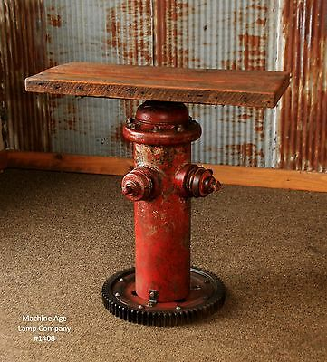 Steampunk Lamp Industrial Machine Age Fire Hydrant Table Sofa Side Console Stand