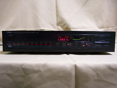 Yamaha T-80 Natural Sound Stereo AM/FM Tuner High/Low Output 0.01 MHz Fine Tuner