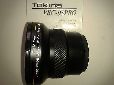 Tokina VSC-05PRO Wide angle 0.5x conversion lens Boxed plus instructions