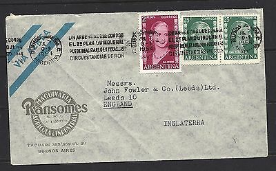1954 Argentina Air Mail Cover To England