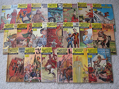 Vintage lot of 20 issues of Classics Illustrated Comic Books