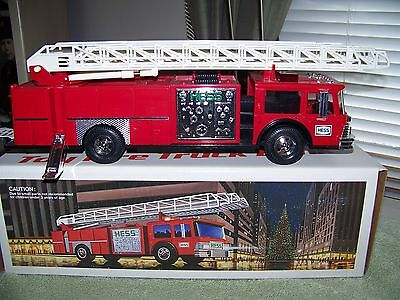 1986 HESS Fire Truck Bank (MINT with Box!!)