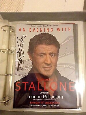 Sylvester Stallone Signed Programme An Evening With London Palladium