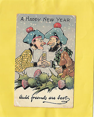 A  HAPPY NEW  YEAR  AULD FRIENDS ARE BEST     Scotland COMIC ( N79  )
