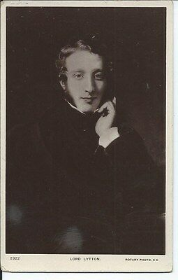 LORD LYTTON Early RP Famous Postcard Playwright Politician