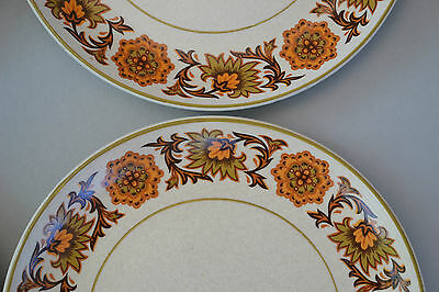 70S Vintage Midwinter Stonehenge 'woodland' Pattern 4 X Side-Plates