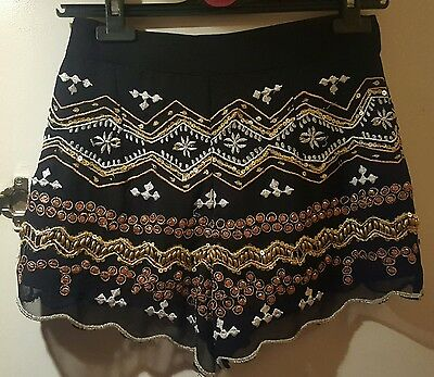 miss selfridge shorts size 8