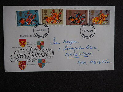 Post Office First Day Cover Great Britons 10 Jul 1974