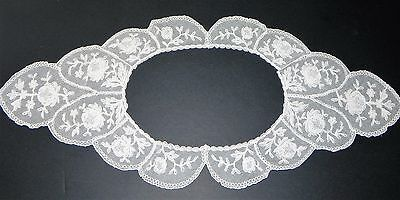 Vintage Lace Trim Collar Net Lace with Floral Design