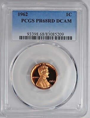 1962 Proof Lincoln Cent Pcgs Pr68Rd Dcam Very Heavy Frost