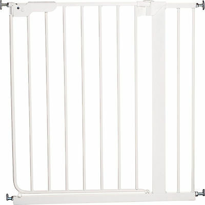 New Babydan White Danamic Indicator Safety Stair Gate Pressure Fit Baby Gate