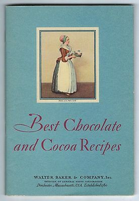 Best Chocolate and Cocoa Recipes by Walter Baker & Company