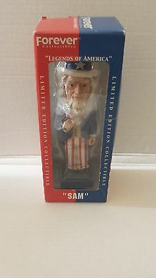 Forever Collectibles Legends America Uncle Sam Bobblehead Limited New Nip Nib
