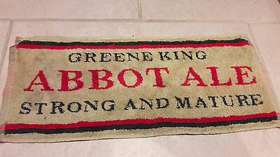 Green King Abbot Ale Beer Towel rare 20+ years old