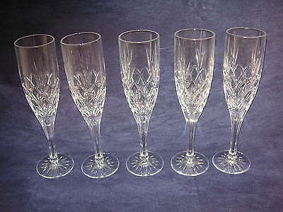 "5 Royal Doulton ""CICANT"" or ""CANTERBURY"" Champagne Flute - 22.5cms (8-7/8"") tall"