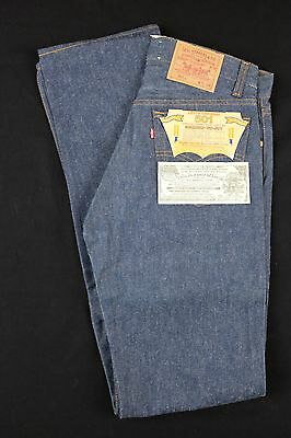 Vtg 1980s Levi's 501 Shrink To Fit 31x38 raw denim stf levis deadstock nos